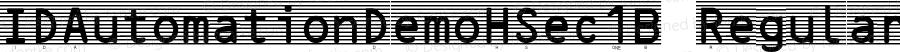 IDAutomationDemoHSec1B Regular IDAutomation.com 2015