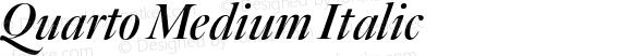 Quarto Medium Italic