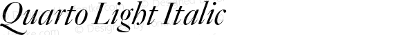 Quarto Light Italic