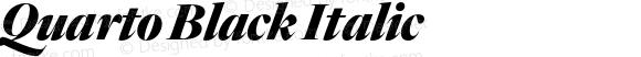 Quarto Black Italic