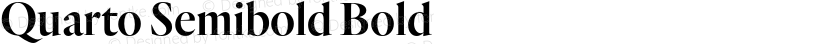 Quarto Semibold Bold Preview Image