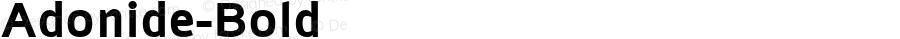 Adonide-Bold ☞ Version 1.000;com.myfonts.easy.laboitegraphique.adonide.bold.wfkit2.version.3Utd