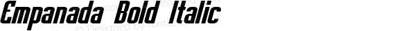Empanada Bold Italic preview image