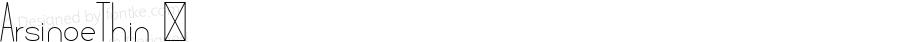 ArsinoeThin ☞ Version 1.001;com.myfonts.easy.pburgiel.arsinoe.thin.wfkit2.version.3G1A