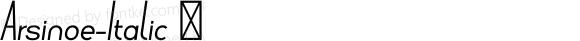 Arsinoe-Italic ☞ Version 1.001;com.myfonts.pburgiel.arsinoe.italic.wfkit2.3G1c