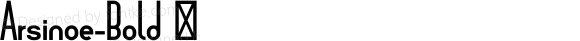 Arsinoe-Bold ☞ Version 1.001;com.myfonts.easy.pburgiel.arsinoe.bold.wfkit2.version.3G1Q