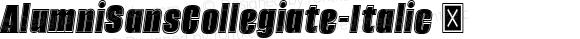 AlumniSansCollegiate-Italic ☞ Version 1.000;PS 001.001;hotconv 1.0.56;com.myfonts.easy.typesetit.alumni.collegiate-italic.wfkit2.version.4mJd