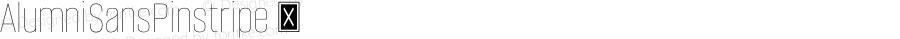 AlumniSansPinstripe ☞ Version 1.000;PS 001.001;hotconv 1.0.56;com.myfonts.easy.typesetit.alumni.pinstripe.wfkit2.version.4mJr