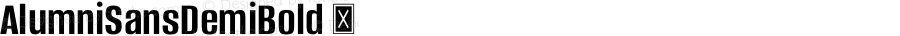 AlumniSansDemiBold ☞ Version 1.000;PS 001.001;hotconv 1.0.56;com.myfonts.easy.typesetit.alumni.demi-bold.wfkit2.version.4mJk