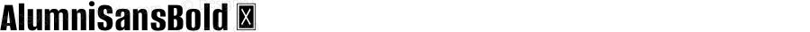 AlumniSansBold ☞ Version 1.000;PS 001.001;hotconv 1.0.56;com.myfonts.easy.typesetit.alumni.bold.wfkit2.version.4mJb