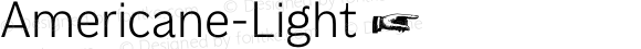 Americane-Light ☞ Version 1.000;com.myfonts.easy.hvdfonts.americane.light.wfkit2.version.4mL4