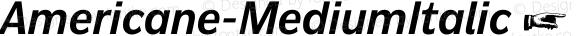 Americane-MediumItalic ☞ Version 1.000;com.myfonts.easy.hvdfonts.americane.medium-italic.wfkit2.version.4mL2