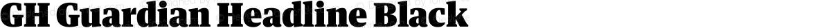 GH Guardian Headline Black