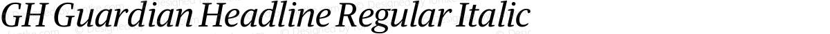GH Guardian Headline Regular Italic