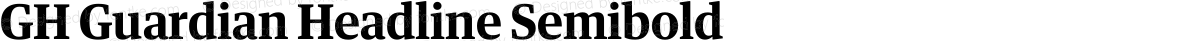GH Guardian Headline Semibold
