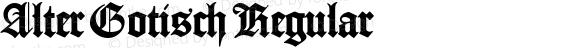 Alter Gotisch Regular Version 1.00 March 1, 2015, initial release