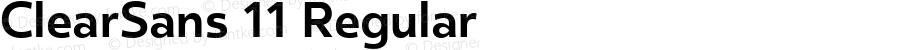 ClearSans 11 Regular Version 001.000;com.myfonts.easy.positype.clear-sans.bold.wfkit2.version.44Vx