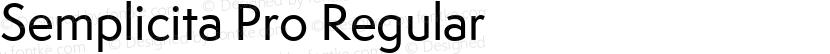 Semplicita Pro Regular Preview Image