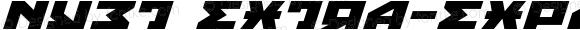 Nyet Extra-Expanded Italic Extra-Expanded Italic