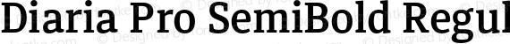 Diaria Pro SemiBold Regular preview image