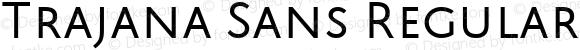 Trajana Sans Regular
