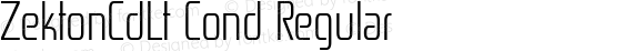 ZektonCdLt Cond Regular Version 4.001;com.myfonts.easy.typodermic.zekton.condensed-light.wfkit2.version.3wxa
