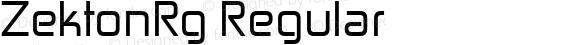 ZektonRg Regular Version 4.001;com.myfonts.easy.typodermic.zekton.regular.wfkit2.version.3wxn