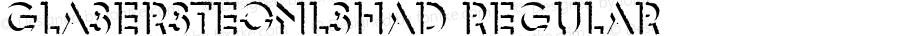 GlaserSteOnlShaD Regular Version 1.10;com.myfonts.easy.urw.glaser-stencil.only-shadow-d.wfkit2.version.3pUq
