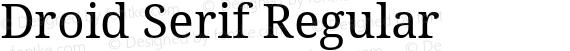Droid Serif Regular preview image
