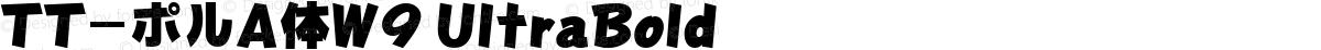 TT-ポルA体W9 UltraBold