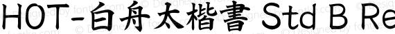 HOT-白舟太楷書 Std B Regular preview image
