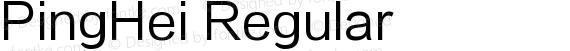 PingHei Regular preview image