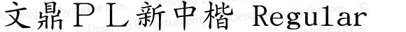 文鼎PL新中楷 Regular