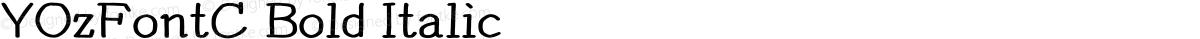 YOzFontC Bold Italic