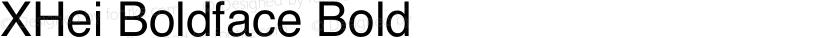 XHei Boldface Bold Preview Image