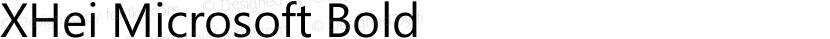 XHei Microsoft Bold Preview Image
