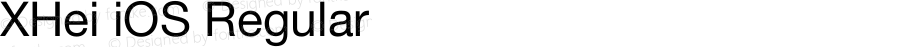 XHei iOS Regular XHei iOS - Version 6.0
