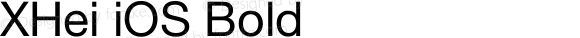 XHei iOS Bold