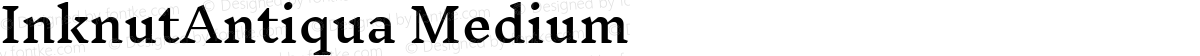 InknutAntiqua Medium