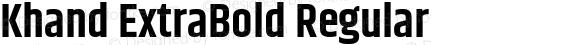 Khand ExtraBold Regular
