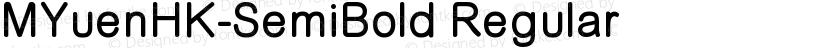 MYuenHK-SemiBold Regular Preview Image