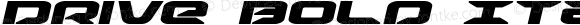 Drive Bold Italic Bold Italic Version 1.1; 2015