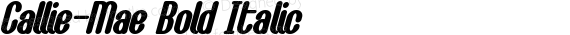 Callie-Mae Bold Italic preview image