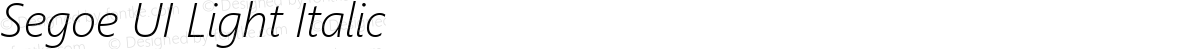 Segoe UI Light Italic