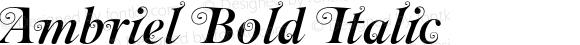 Ambriel Bold Italic OTF 1.000