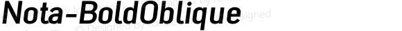 Nota-BoldOblique ☞ Version 001.000;com.myfonts.easy.wiescherdesign.nota.bold-oblique.wfkit2.version.4nDC