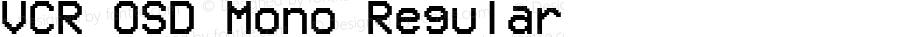 VCR OSD Mono Regular 1.001 March 31, 2015