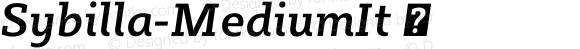 Sybilla-MediumIt ☞ Version 2.950;com.myfonts.easy.karandash.sybilla.medium-italic.wfkit2.version.4nLW