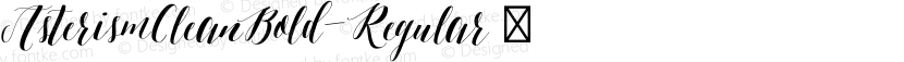 AsterismCleanBold-Regular ☞ Preview Image