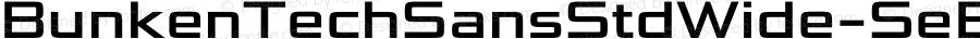 BunkenTechSansStdWide-SeBd ☞ Version 1.36;com.myfonts.easy.buntype.bunken-tech-sans-wide.std-semi-bold.wfkit2.version.4nK3